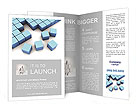 Blue Square Brochure Template