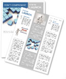 Blue Square Newsletter Templates