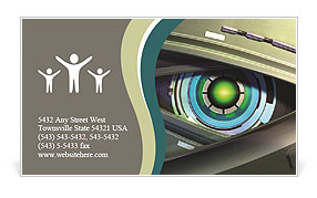 Close Up On A Robotic Eye Business Card Template Design Id