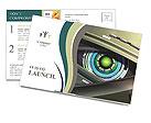 Close-up on a robotic eye Postcard Templates