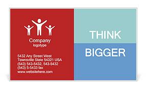 Reach Goal Business Card Template