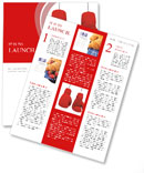 Two red gloves hanging Newsletter Template