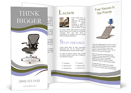 Office chair brochure template design id 0000006556 for Office brochure templates