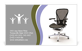 Office chair business card template design id 0000006556 office chair business card template accmission Image collections