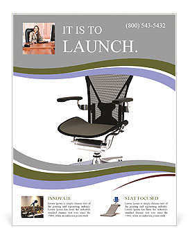 Office chair flyer template design id 0000006556 for Chair design templates