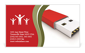 Memory Stick Business Card Template
