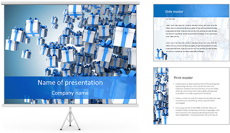Decorative Gift Box PowerPoint Template