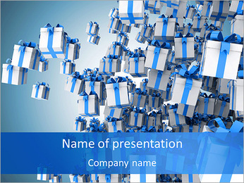 Decorative Gift Box PowerPoint Templates - Slide 1