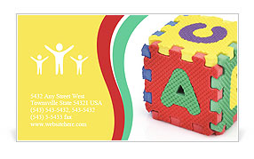 Toy With Alphabet Business Card Template
