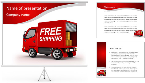 Free Shipping PowerPoint Template Backgrounds ID 0000006575 – Shipping Templates