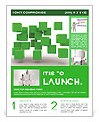 Green Geometric Figure Flyer Template