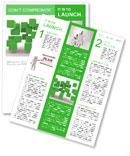 Green Geometric Figure Newsletter Template