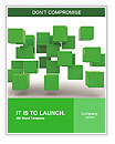 Green Geometric Figure Word Templates