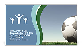Football Business Card Template