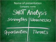SWOT-analys PowerPoint presentationsmallar