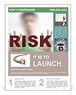 Risk Level Flyer Template