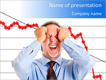 Regress In Business PowerPoint Template