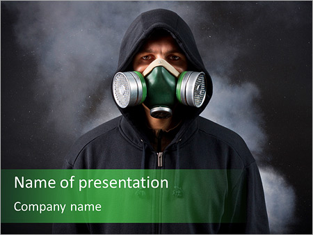 Gas Mask PowerPoint Template, Backgrounds & Google Slides - ID ...