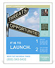 Threat And Opportunity Poster Template