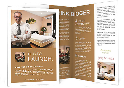businessman in hotel brochure template - Hotel Brochure Design Templates