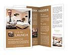 Businessman In Hotel Brochure Templates