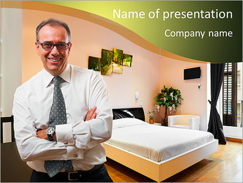 Businessman In Hotel PowerPoint Template