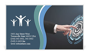 Touch The Screen Business Card Template