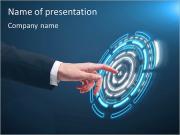 画面をタッチ PowerPointプレゼンテーションのテンプレート