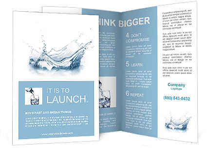 Pure Water Brochure Template & Design ID 0000006622 ...