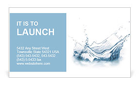 Pure water business card template design id 0000006622 pure water business card template colourmoves