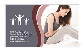Woman Has Pain Business Card Template