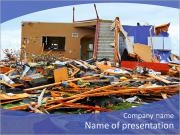 Destroyed House PowerPoint Templates
