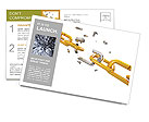 Golden Chain Postcard Template