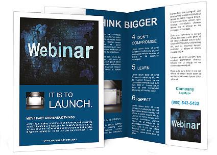 webinar on-line brochure template & design id 0000006644, Presentation templates
