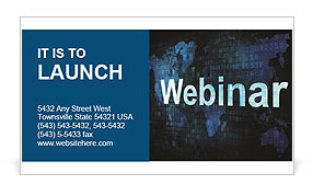 Webinar On-line Business Card Templates