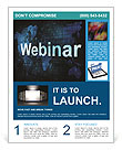 Webinar On-line Flyer Template