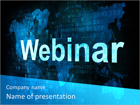 webinar on-line powerpoint template & backgrounds id 0000006644, Presentation templates
