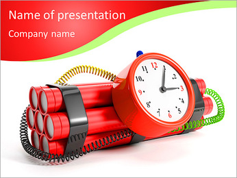 ダイナマイト PowerPointプレゼンテーションのテンプレート