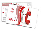 Red Phone Receiver Postcard Templates