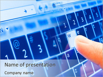 Sensory Keyboard PowerPoint Template