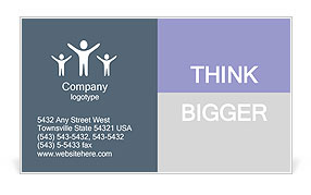 Blank Nameplate Business Card Templates