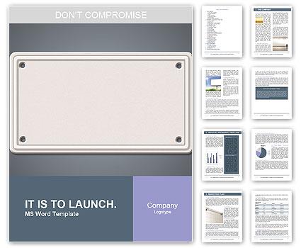blank nameplate word template design id 0000006659