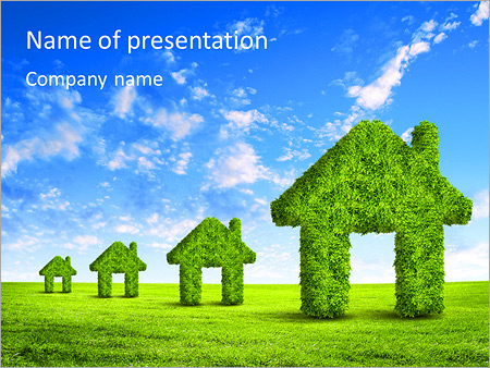 Eco house powerpoint template backgrounds id 0000006661 eco house powerpoint templates toneelgroepblik Choice Image