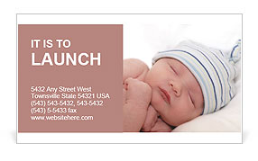 new born baby business card template