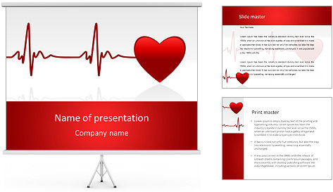 heart beat powerpoint template backgrounds id 0000006670