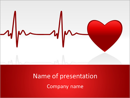 Heart beat powerpoint template backgrounds id 0000006670 heart beat powerpoint template toneelgroepblik