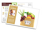 Fruit Diet Postcard Templates