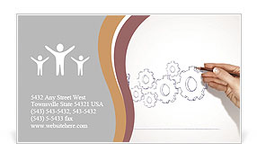 Mechanic Drawing Business Card Template