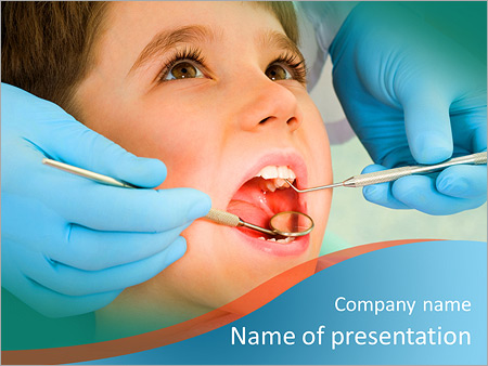 child at dentist powerpoint template & backgrounds id 0000006687, Modern powerpoint