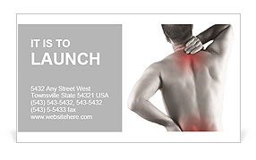 Back Pain Business Card Template